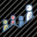 business, finance, group of people, leadership, team, teamwork icon