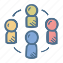business, finance, group of people, team, teamwork icon