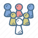 business, finance, group of people, team icon
