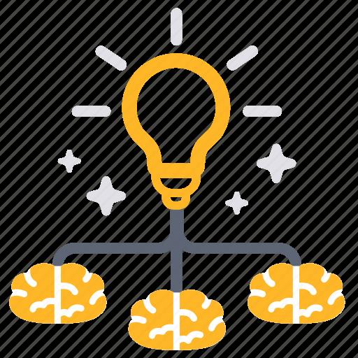 brainstorm, bright, creative, idea, integrate, team, teamwork icon