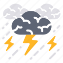 brainstorm, cloud, serious, storm, strain, team, teamwork icon