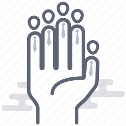 business, group, hand, people, roles, team, teamwork icon