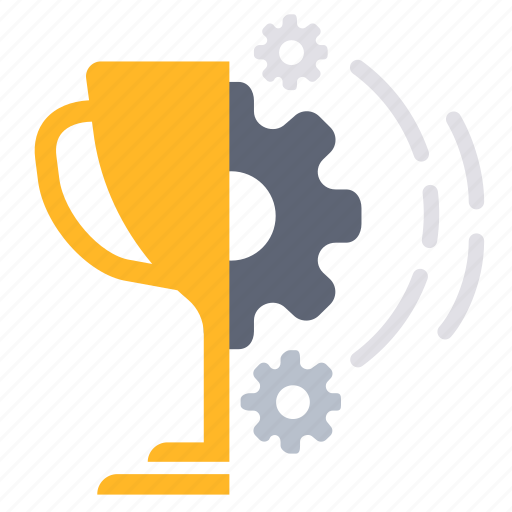 achievement, award, prize, process, processing, trophy, work icon
