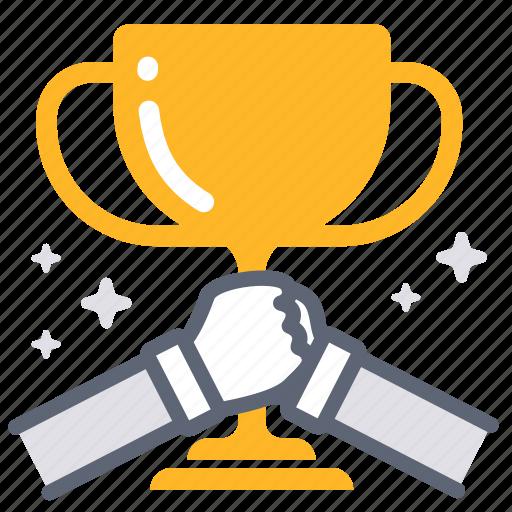 achievement, award, mvp, success, team, teamwork, trophy icon