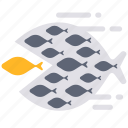 big fish eat little fish, eat, fish, power, team, teamwork, together icon