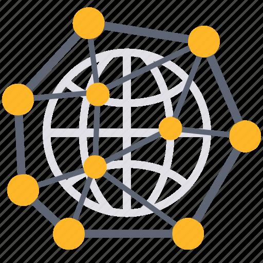 communication, connection, international, links, network, team, world icon