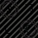 dollar, euro, exchange, transfer icon