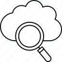 cloud, database, search, server icon