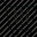 basket, cart, shopping, trolley