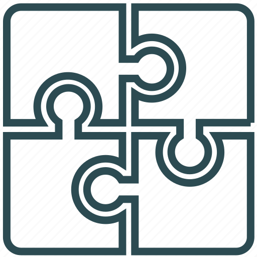 business, finance, interoperability, puzzles, skills, strategy icon