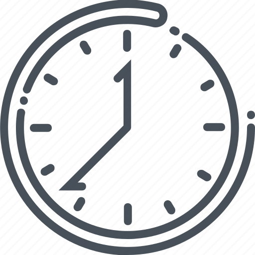 business, circular, clock, head, person, time, tool icon