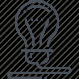 bright, bulb, business, creativity, electric, idea, lamp icon