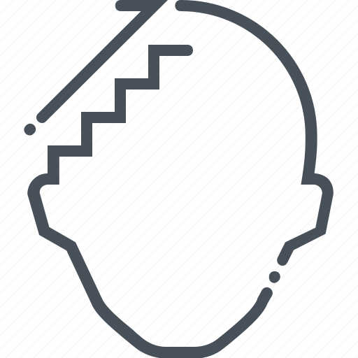brain, business, climb, head, ladder, staircase, upstairs icon