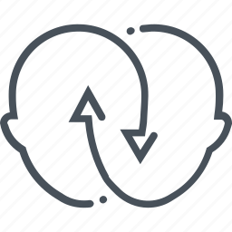 arrow, connection, head, information, mix, share, syncronisation icon