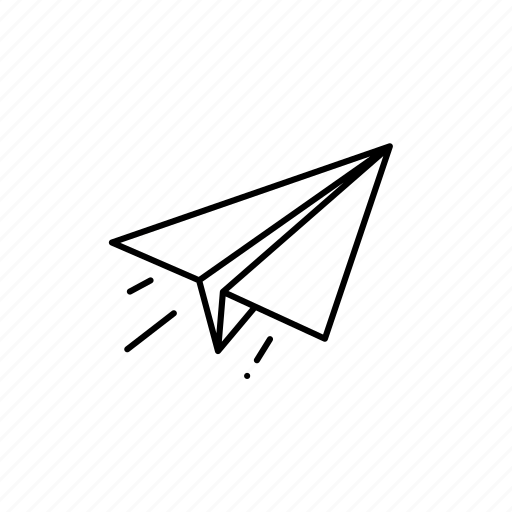 attachment, business, fly, outline, plane, send icon