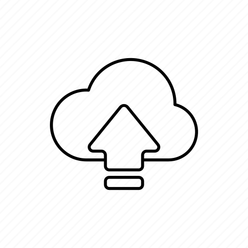 arrow, business, cloud, expand, outline, upload icon
