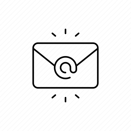 attachment, business, chat, email, expand, message, outline icon