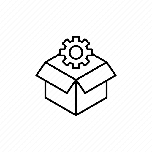 box, business, creative, expand, idea, out of the box, outline icon