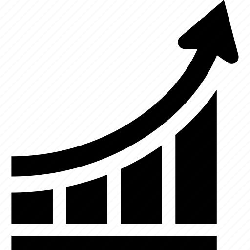 arrow, business, chart, earnings, graph, profit, statistics icon
