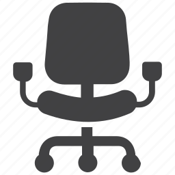 business, chair, chief, interior, office chair, seat, swivel icon