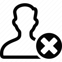 erase, user icon