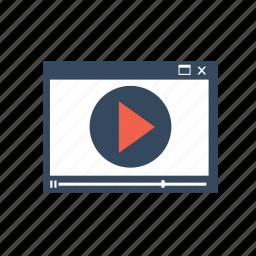 internet, marketing, media, streaming, video, youtube icon
