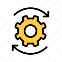 cog, edit, gear, process, resetup, settings, update icon