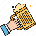 alcohol, beer, celebrate, celebration, drunk, party icon