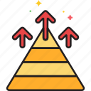 chart, get on top, pyramid icon