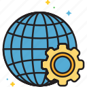 global, global progress, progress icon