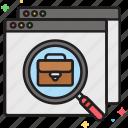 job board, job search, portfolio icon