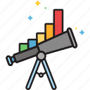 forecast, market, market forecast, prediction, telescope, trend icon
