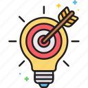 idea, light bulb, marketing, marketing idea icon