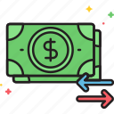 cash, cash flow, flow, money, money flow icon