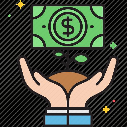 growth, money, money tree, plant icon