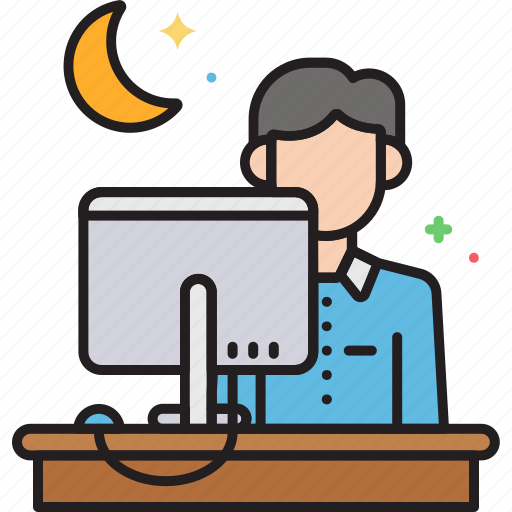 ot, overtime, working late icon
