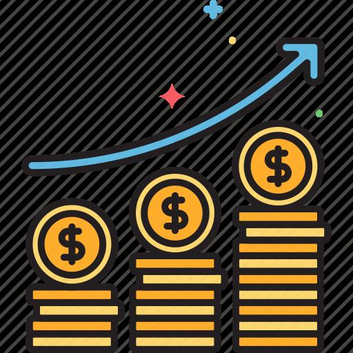 crowdfunding, fund, funding, fundraising, profit, raise, sales icon