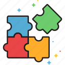 puzzle, solution icon