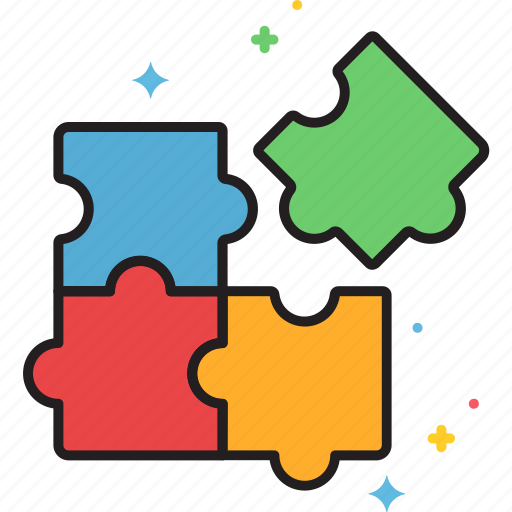 puzzle, solution icon