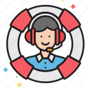 customer service, help, representative, helpdesk, support icon
