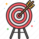 archery, arrow, target, target practice icon