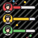 abilities, level, skill, skills, team, team skill, team skills icon