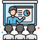 conference, seminar, video, video conference, workshop icon