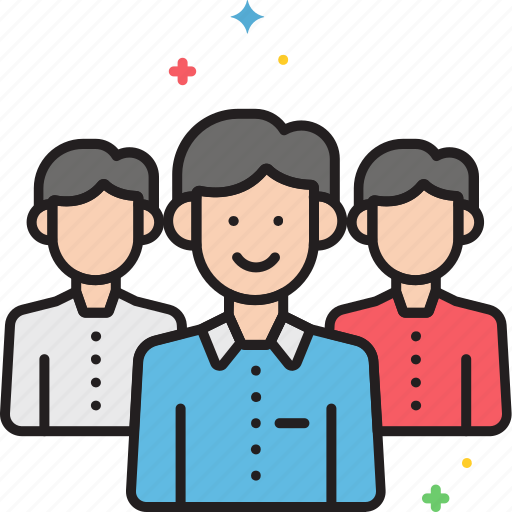 clients, customers, partners, team, workgroup icon