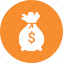 bag, dollar, finance, investment, money icon
