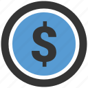 circle, dollar, finance, insurance, money, payment icon