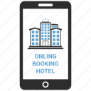 booking, call, communication, hotel, iphone, mobile, online icon