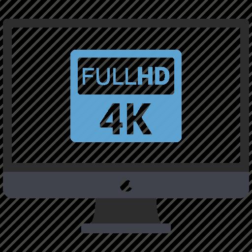 4k, computer, desktop, display, full hd, imac, monitor icon