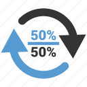 info, 50, graphic, 50 percent, fifty, half