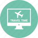 computer, desktop, display, imac, monitor, online traveling icon